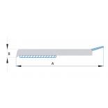 Ploché samolepící lišty s praporkem (role 50m) - bílé