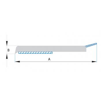 Ploché samolepící lišty s praporkem (tyče 6 m) - bílé
