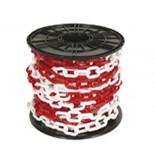Plastový řetěz bílo-červený